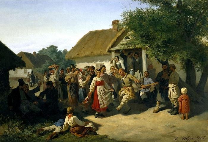 Хоровод в Курской губернии. (1860). Автор: Константин Трутовский.