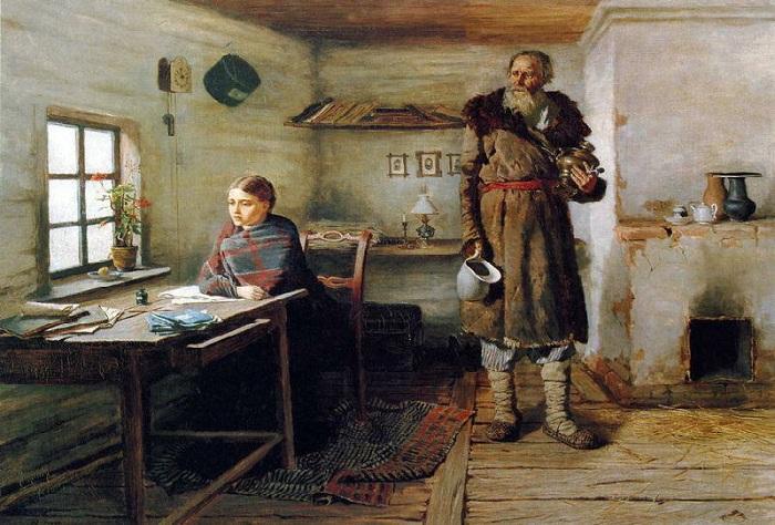 Сельская учительница. (1883). Автор: Константин Трутовский.