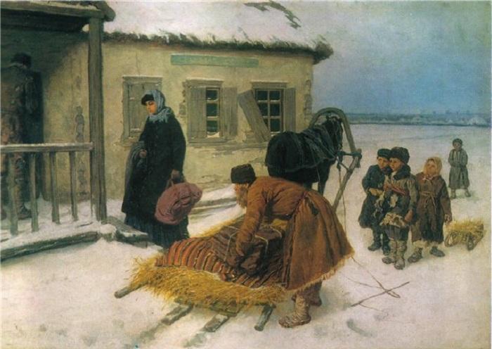 Приезд учительницы. Автор: Константин Трутовский.