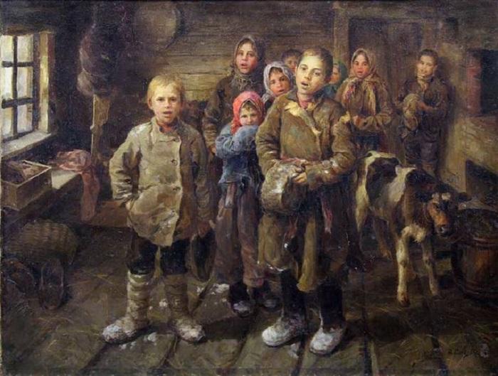 Колядки в Малороссии. (1864 г.) Автор: Константин Трутовский.