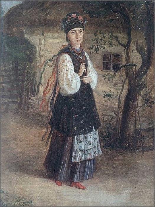 Украинская девушка. Автор: Константин Трутовский.