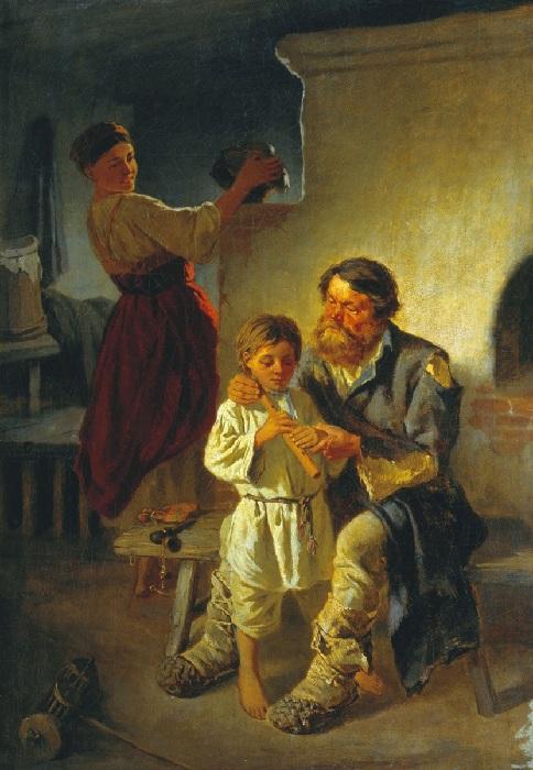 Урок музыки. Автор: Константин Трутовский.