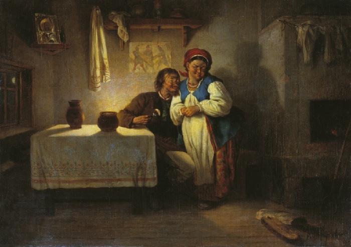 Иллюстрация к Сорочинской ярмарке Николая Гоголя. Автор: Константин Трутовский.