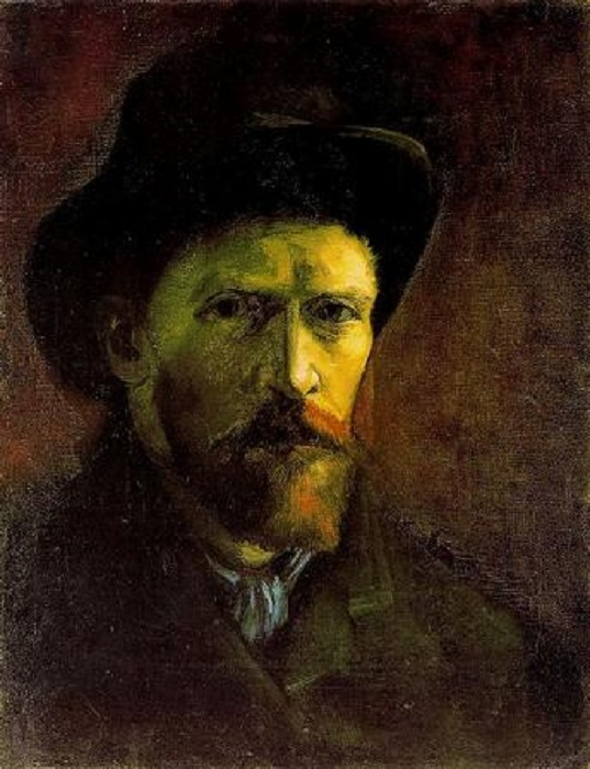 Один из малоизвестных автопортретов Ван Гога (1886 г.). Музей Ван Гога, Амстердам.