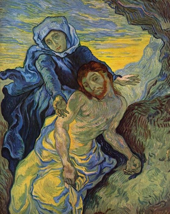 Пьета. (1880г.) Автор: Винсент Ван Гог.