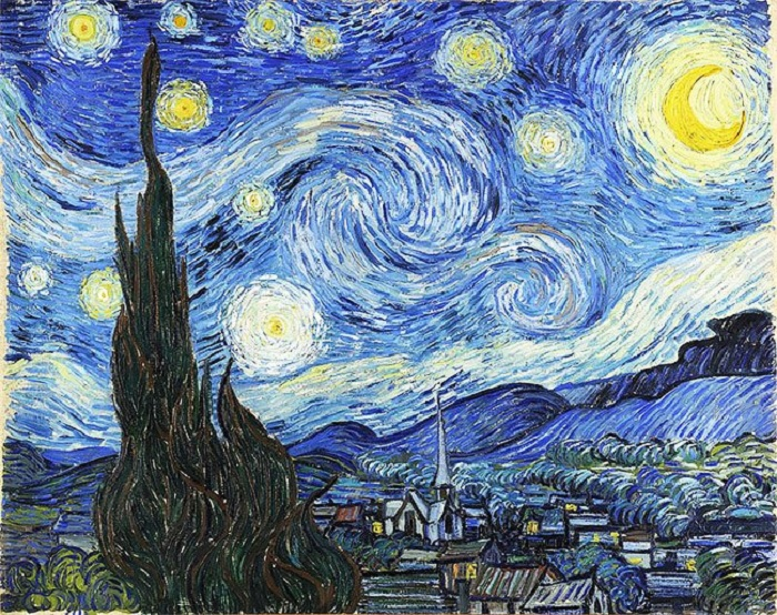 Звездное небо. Автор: Ван Гог.