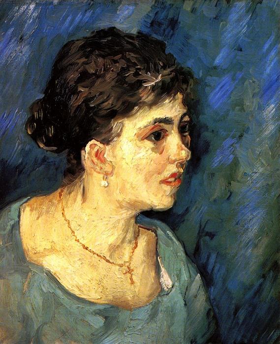«Портрет женщины в голубом». Автор: Ван Гог.
