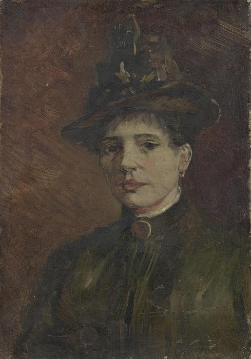 Портрет женщины в шляпе 1886. Автор: Ван Гог.