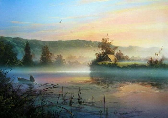 «Туман на озере». Автор: Виктор Юшкевич.