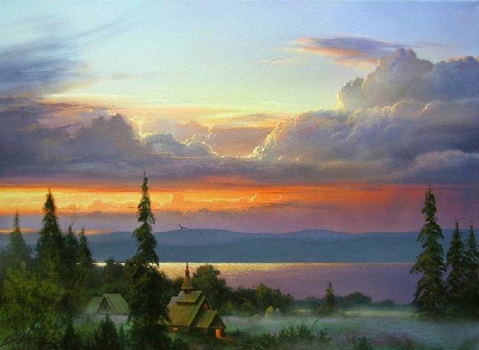 «Вечер». Автор: Виктор Юшкевич.