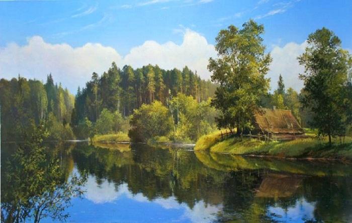 «Дом у озера». Автор: Виктор Юшкевич.