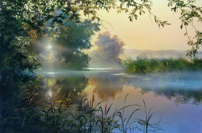 «Утро на реке». Автор: Виктор Юшкевич.