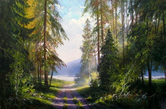 «Лесная дорога». Автор: Виктор Юшкевич.
