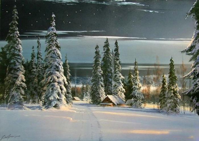 «Зимняя дорога». Автор: Виктор Юшкевич.
