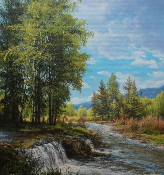 «Весенний ручей». Автор: Виктор Юшкевич.
