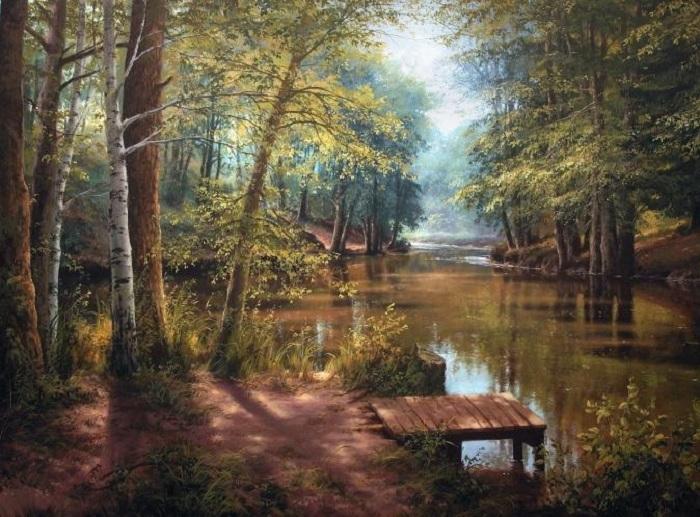 «Мостик у пруда». Автор: Виктор Юшкевич.