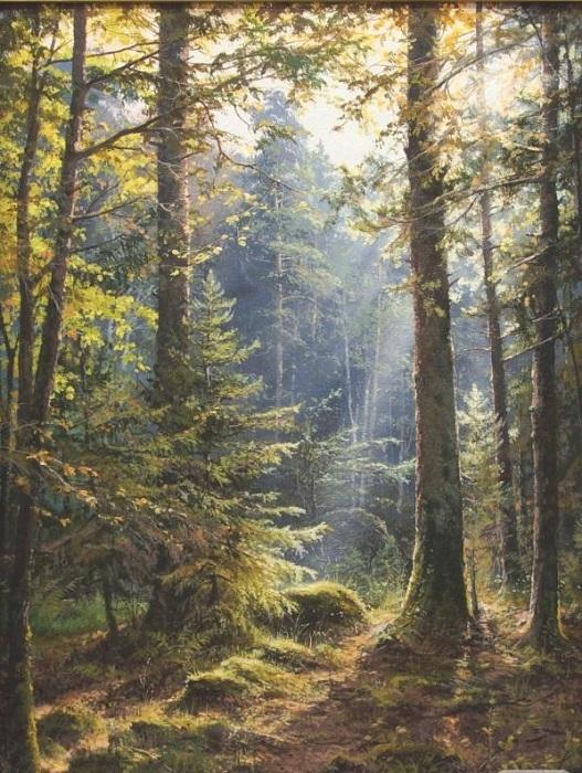 «Утренний лес». Автор: Виктор Юшкевич.
