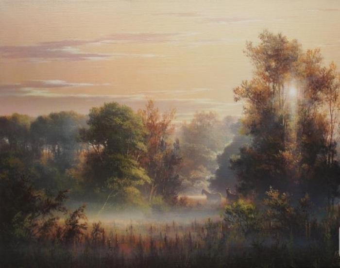 «Утро в деревне». Автор: Виктор Юшкевич.