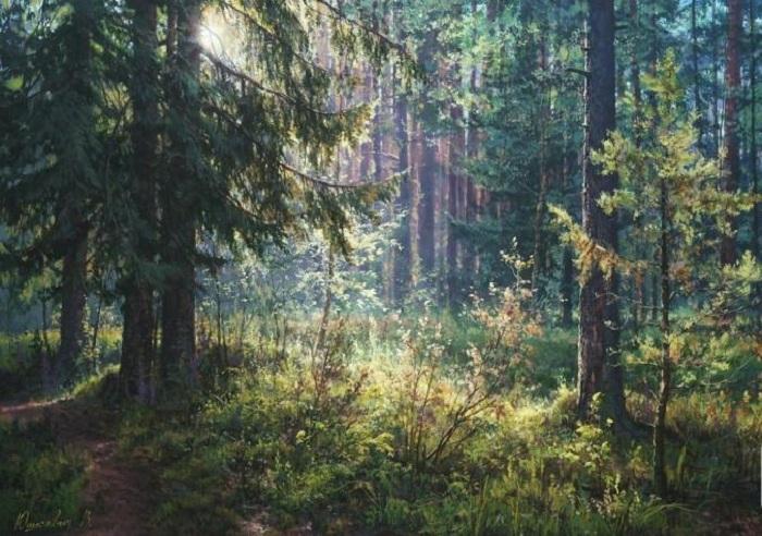 «Тайна утреннего леса». Автор: Виктор Юшкевич.