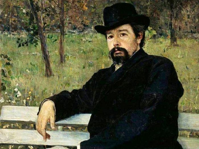 Портрет Н.А. Ярошенко. (1897 год). М.В. Нестеров.