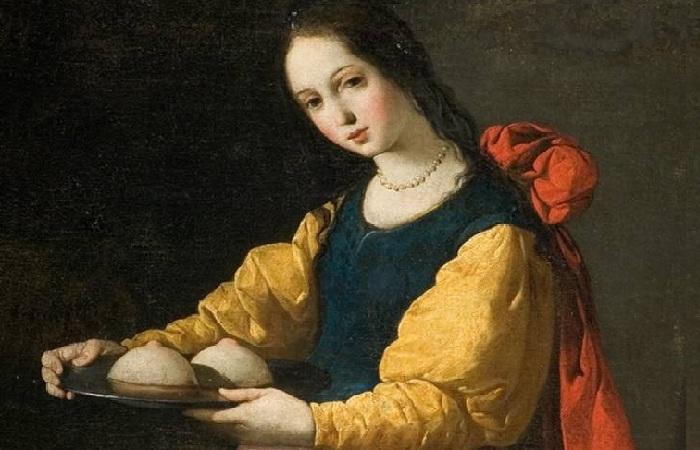 Святая Агата. (1630-1633гг.). Автор:Сурбаран.