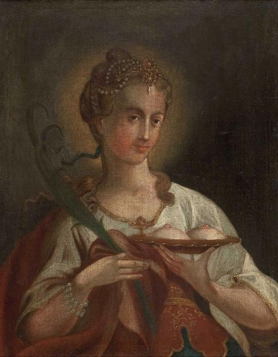 Святая Агата. Неизвестный художник (Австрия), 18 век.