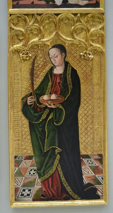 Иконография Святой Агафьи. (1505г.). Автор: Франсиско де Осона.