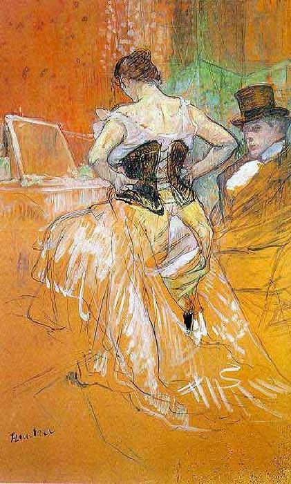 Женщина в корсете.