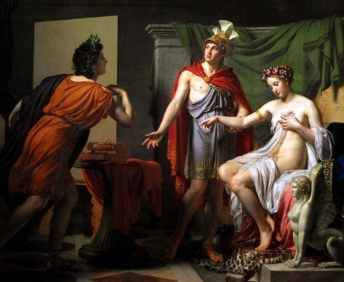 Александр уступает Кампаспу Апеллесу. (1819). Автор: Джером Мартин Ланглуа.