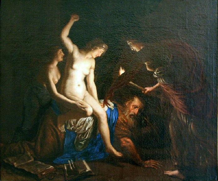 Аристотель и Кампаспа. Автор: Alessandro Turchi.