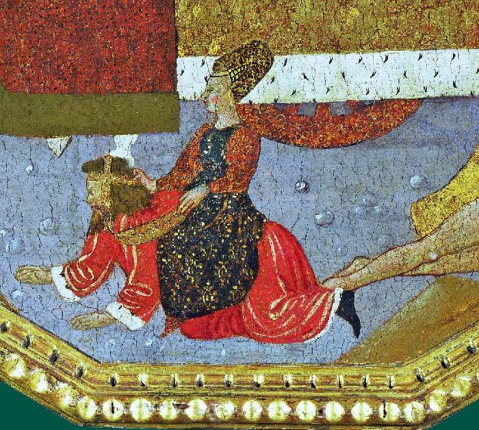 Кампаспа верхом на Аристотеле. Фреска.
