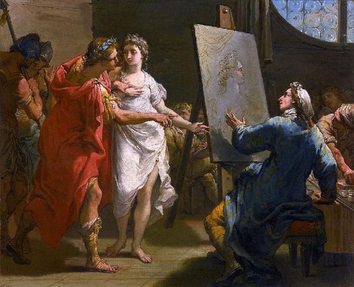 Александр Великий отдает Кампаспу Апеллесу. (1793). Автор: Гаэтано Гандольфи.