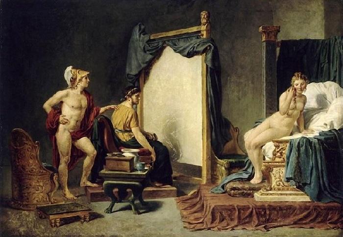 Апеллес пишет Кампаспу в присутствии Александра Великого. (1813-23). Автор: Жак-Луи Давид.
