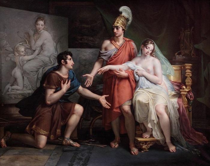 Александр Великий уступает Апеллесу Кампаспу. (1822). Автор: Шарль Мейнье.