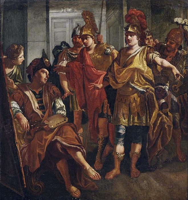 Александр Великий и Апеллес. Неизвестный художник.