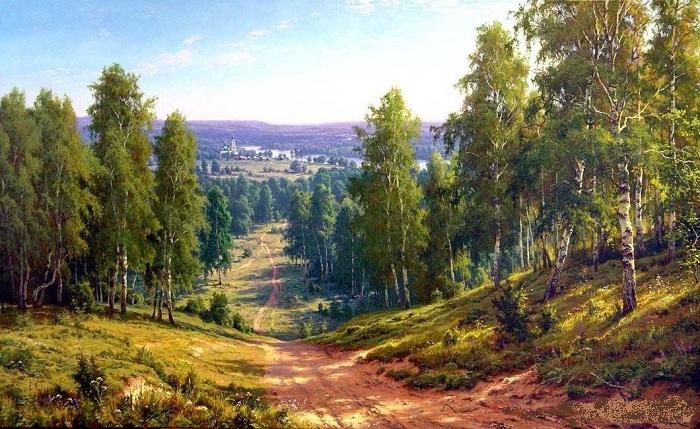 Русский пейзаж от Сергея Басова.