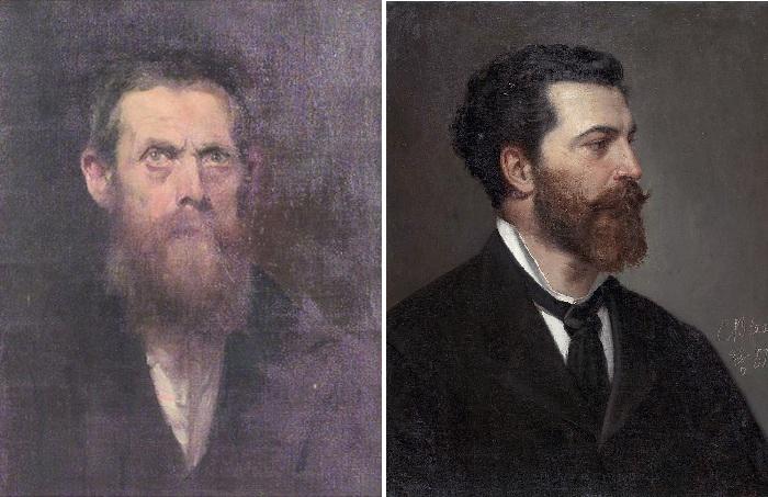 Автопортрет. (1889 год). Автор: Эжен фон Блаас. / Портрет Юлиуса де Блааса. Автор: Карл фон Блаас.