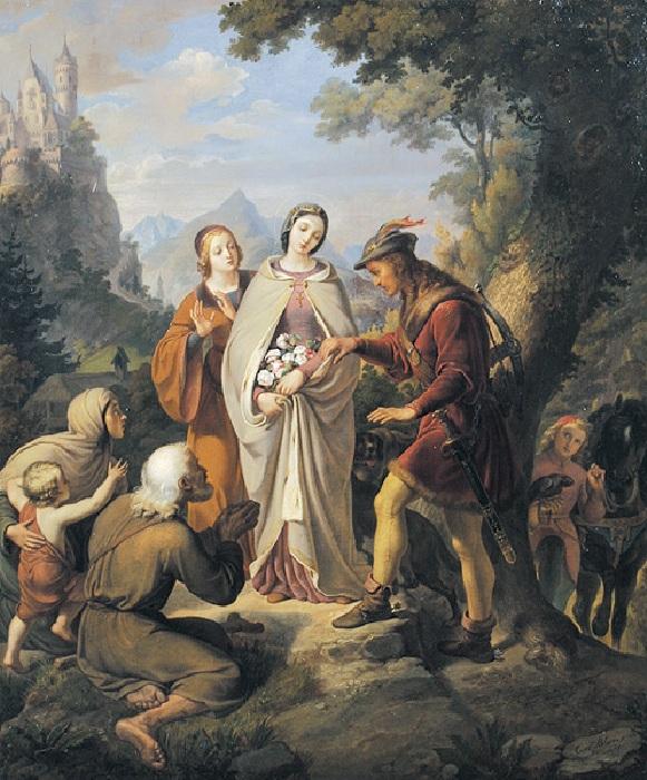 Святая Елизавета. Автор: Карл фон Блаас.