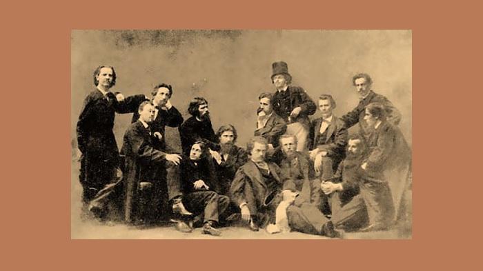 На фото участники «Бунта четырнадцати», 1860-е.