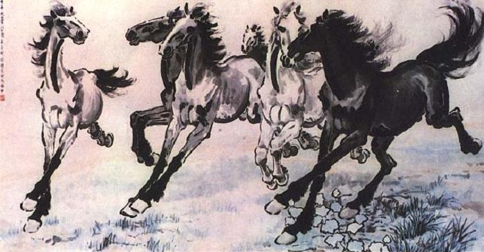 Графический рисунок Чжан Дацяня.