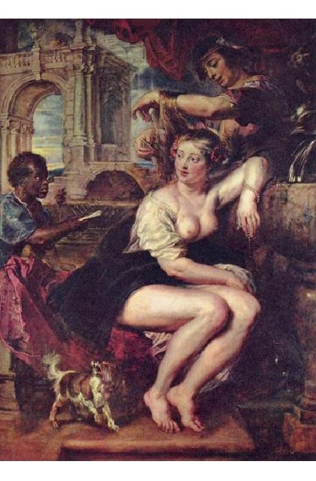 Вирсавия у фонтана. (около 1635 г.)  Автор: Питер Пауль Рубенс
