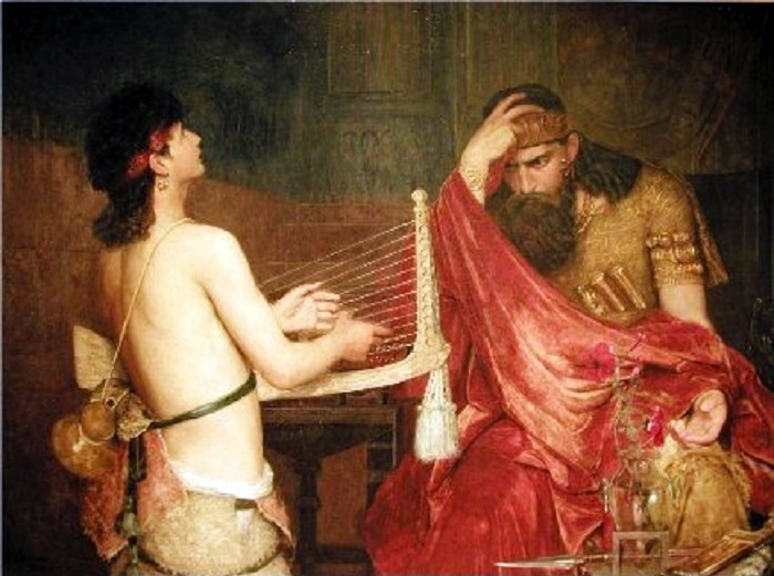Давид и Саул. (1878). Автор: Эрнст Йозефсон.