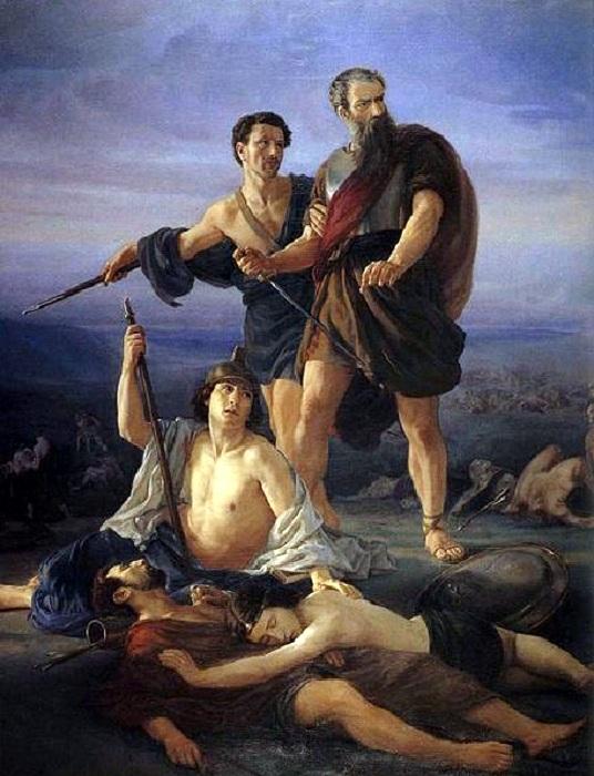 Гибель Саула и его сына. (1848). Автор: Эли Маркузе.
