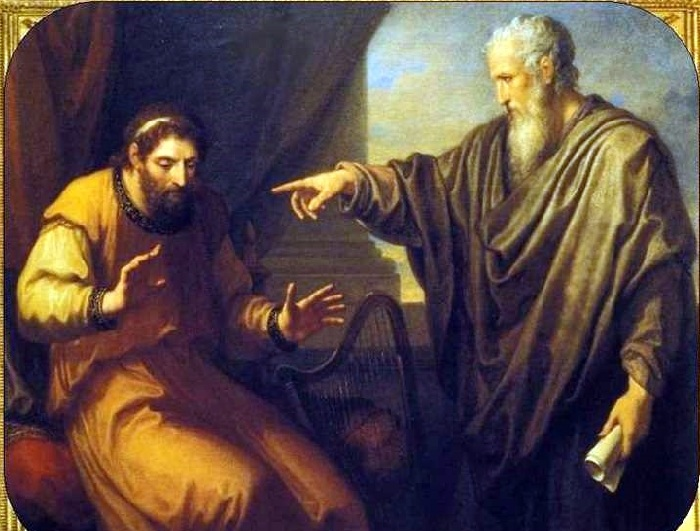 Нафан обвиняет Давида в грехе. Автор: Ангелика Кауфман.