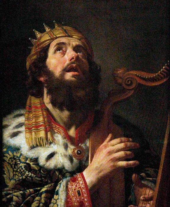 Давид, играющий на арфе.
