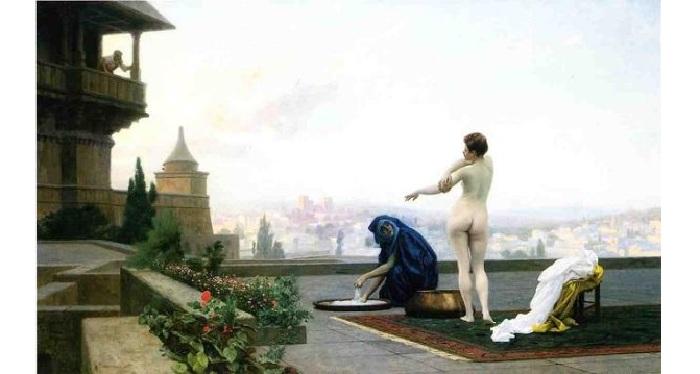 Вирсавия. (1889г.) Автор: Жан-Леон Жером.