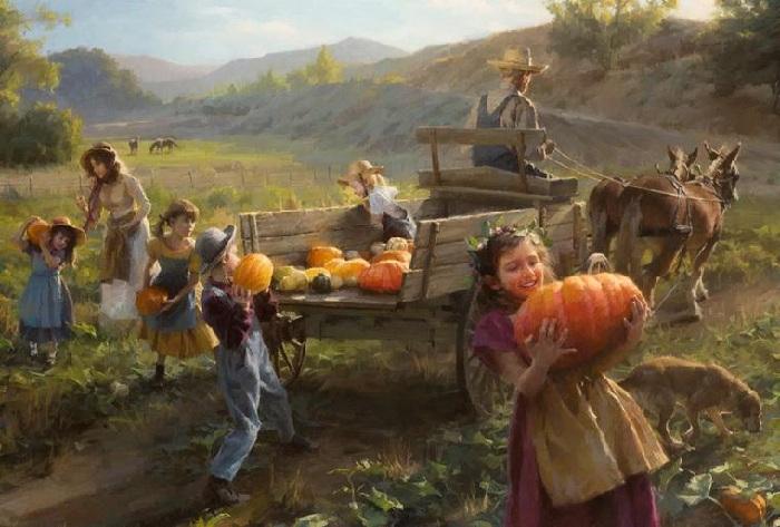 «Окончание сбора урожая». Автор: Morgan Weistling.