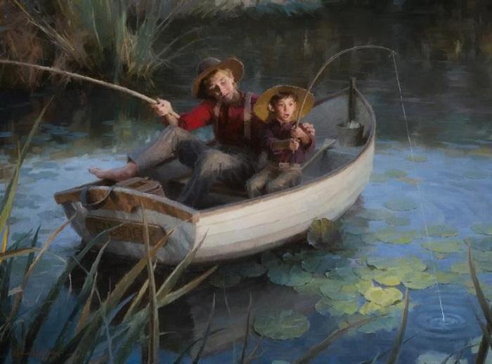 «На рыбалке». Автор: Morgan Weistling.