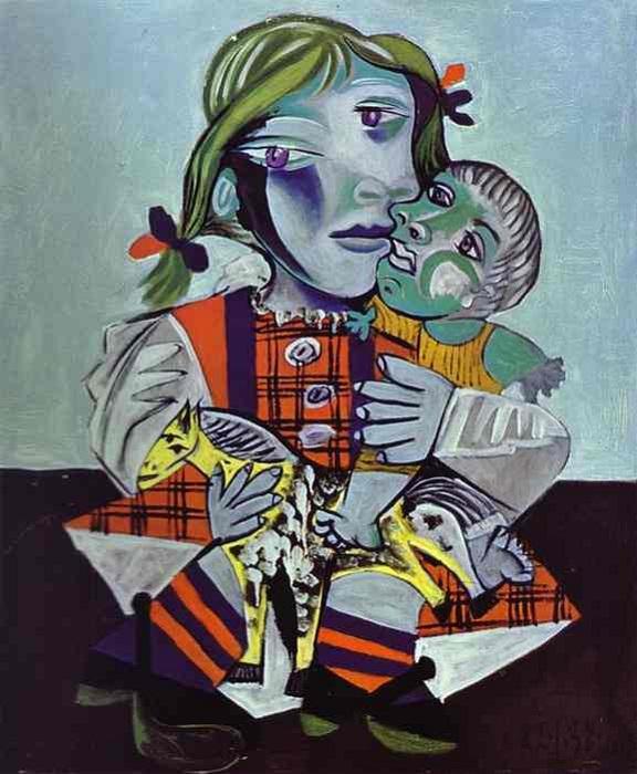 Портрет Майи с куклой.  Автор: Пабло Пикассо.