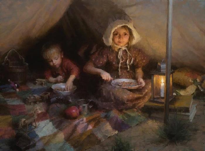 «За ужином». Автор: Morgan Weistling.